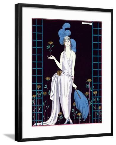 La Roseraie', Fashion Design for an Evening Dress by the House of Worth-Georges Barbier-Framed Art Print