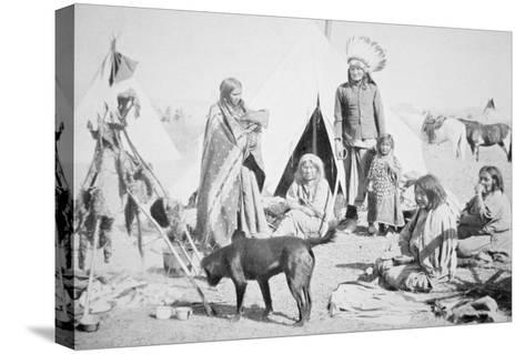 The Sioux Reservation at Pine Ridge, South Dakota, c.1890--Stretched Canvas Print