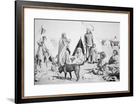 The Sioux Reservation at Pine Ridge, South Dakota, c.1890--Framed Art Print