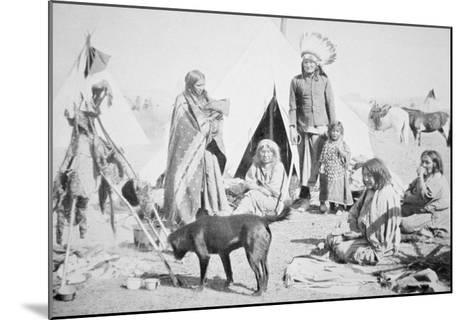 The Sioux Reservation at Pine Ridge, South Dakota, c.1890--Mounted Giclee Print