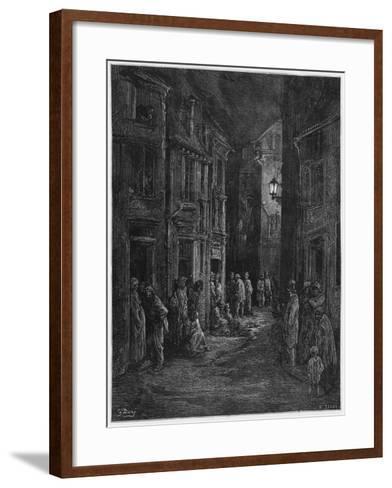 Bluegase-field, Illustration from 'Londres' by Louis Enault-Gustave Dor?-Framed Art Print