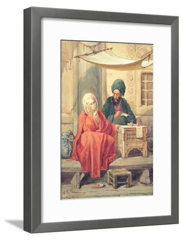 The Ottoman Scribe-Antonio de Dominici-Framed Art Print