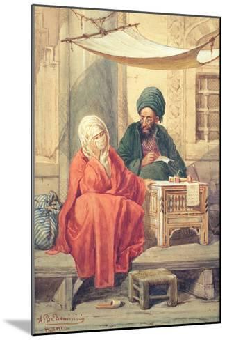 The Ottoman Scribe-Antonio de Dominici-Mounted Giclee Print