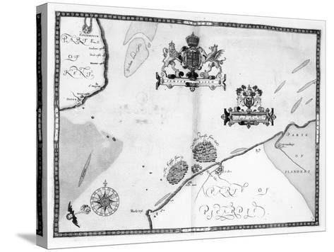 Map No.9 showing the route of the Armada fleet, engraved by Augustine Ryther, 1588-Robert Adams-Stretched Canvas Print