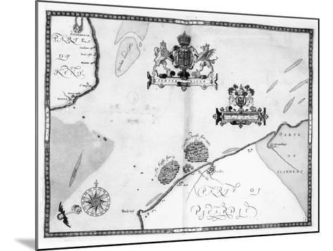 Map No.9 showing the route of the Armada fleet, engraved by Augustine Ryther, 1588-Robert Adams-Mounted Giclee Print