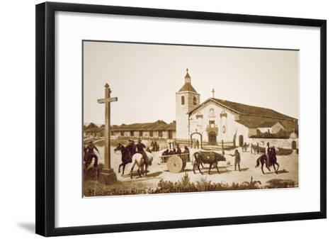 The Spanish Mission, Santa Clara de Asis, California in 1777-American School-Framed Art Print