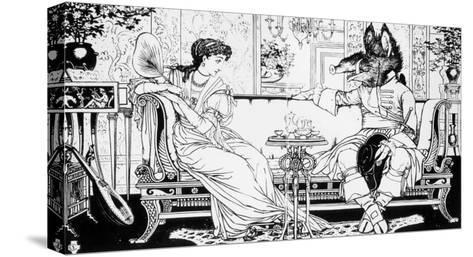 Beauty and the Beast, 1874-Walter Crane-Stretched Canvas Print