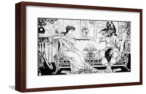 Beauty and the Beast, 1874-Walter Crane-Framed Art Print
