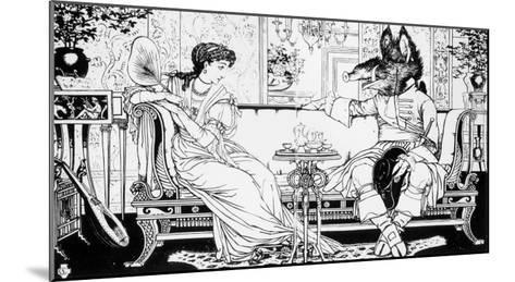 Beauty and the Beast, 1874-Walter Crane-Mounted Giclee Print