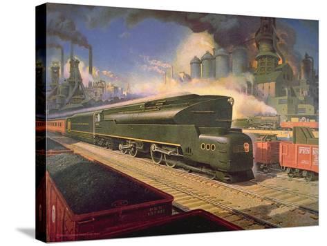 Power' Locomotive, 1945--Stretched Canvas Print