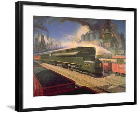 Power' Locomotive, 1945--Framed Art Print