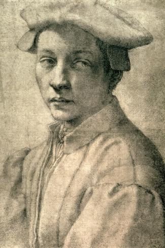 Portrait of Andrea Quaratesi, c.1532-Michelangelo Buonarroti-Stretched Canvas Print