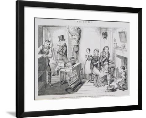 The Bottle, Plate III, 1847-George Cruikshank-Framed Art Print