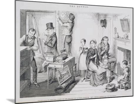 The Bottle, Plate III, 1847-George Cruikshank-Mounted Giclee Print