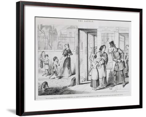 The Bottle, Plate IV, 1847-George Cruikshank-Framed Art Print