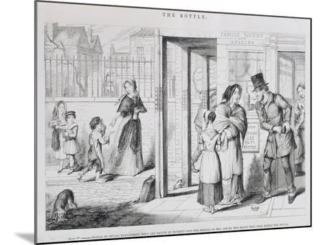 The Bottle, Plate IV, 1847-George Cruikshank-Mounted Giclee Print