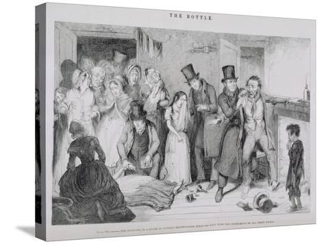 The Bottle, Plate VII, 1847-George Cruikshank-Stretched Canvas Print