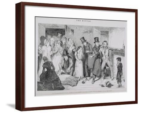 The Bottle, Plate VII, 1847-George Cruikshank-Framed Art Print