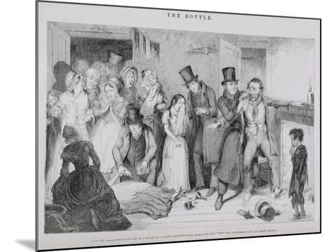 The Bottle, Plate VII, 1847-George Cruikshank-Mounted Giclee Print