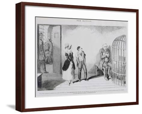 The Bottle, Plate VIII, 1847-George Cruikshank-Framed Art Print