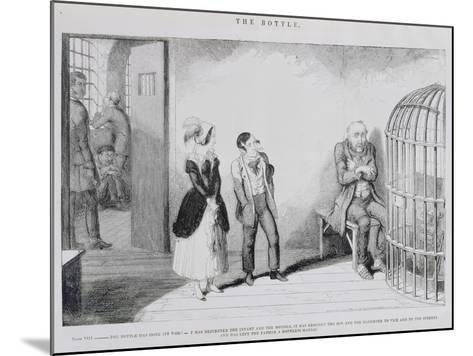 The Bottle, Plate VIII, 1847-George Cruikshank-Mounted Giclee Print