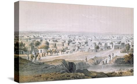 Kano, Nigeria, in 1851, 'Travels and Discoveries in North and Central Africa' by Heinrich Barth-Johann Martin Bernatz-Stretched Canvas Print