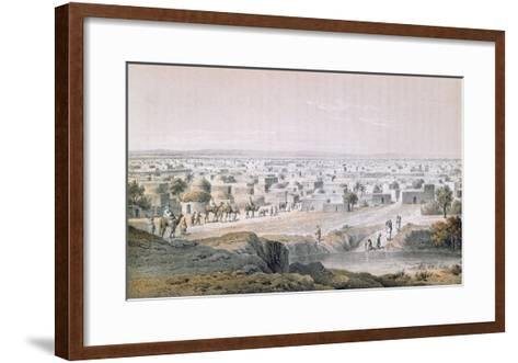 Kano, Nigeria, in 1851, 'Travels and Discoveries in North and Central Africa' by Heinrich Barth-Johann Martin Bernatz-Framed Art Print
