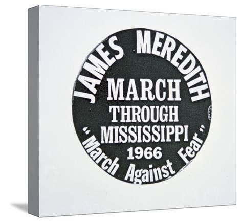 A James Meredith Button from the 'March Against Fear' through Mississippi in 1966--Stretched Canvas Print