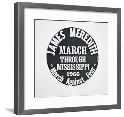 A James Meredith Button from the 'March Against Fear' through Mississippi in 1966--Framed Art Print