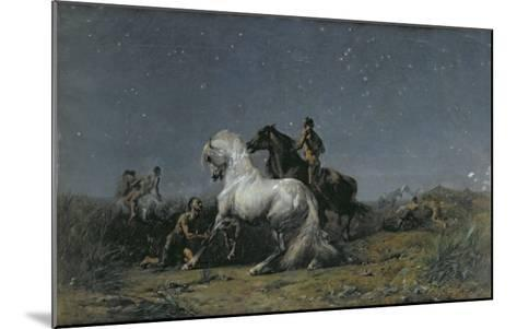 The Horse Thieves-Eugene Delacroix-Mounted Giclee Print