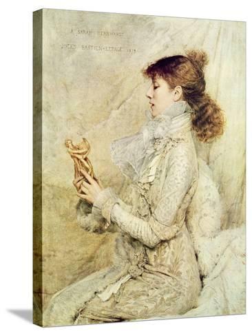 Portrait of Sarah Bernhardt-Jules Bastien-Lepage-Stretched Canvas Print