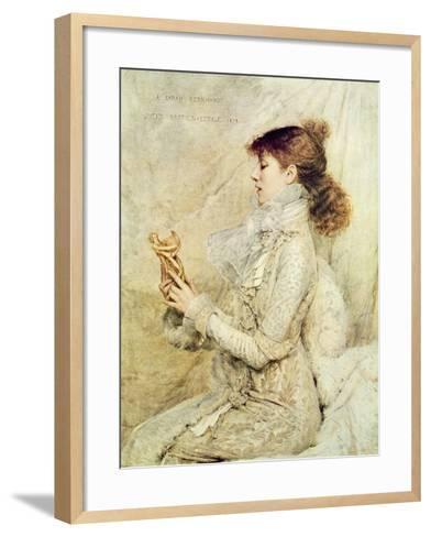 Portrait of Sarah Bernhardt-Jules Bastien-Lepage-Framed Art Print