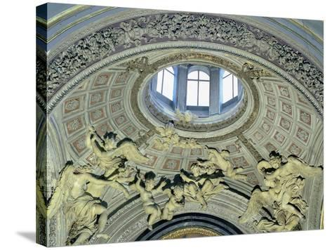 View of the Cupola with Angel Musicians from the Fonseca Chapel-Giovanni Lorenzo Bernini-Stretched Canvas Print