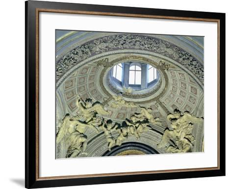 View of the Cupola with Angel Musicians from the Fonseca Chapel-Giovanni Lorenzo Bernini-Framed Art Print