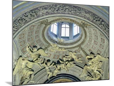 View of the Cupola with Angel Musicians from the Fonseca Chapel-Giovanni Lorenzo Bernini-Mounted Giclee Print