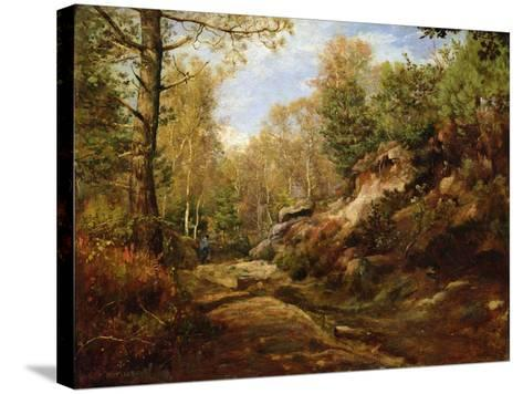 Pines and Birch Trees or, The Forest of Fontainebleau, c.1855-57-Henri Joseph Constant Dutilleux-Stretched Canvas Print