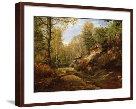 Pines and Birch Trees or, The Forest of Fontainebleau, c.1855-57-Henri Joseph Constant Dutilleux-Framed Art Print