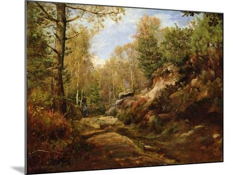 Pines and Birch Trees or, The Forest of Fontainebleau, c.1855-57-Henri Joseph Constant Dutilleux-Mounted Giclee Print