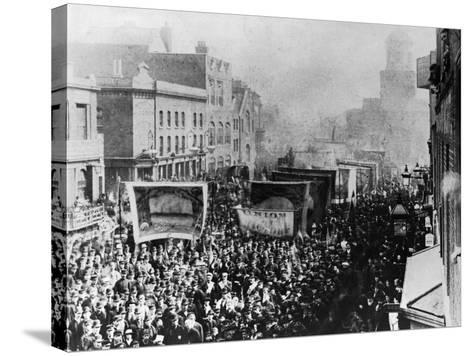 London Dock Strike, 1889--Stretched Canvas Print