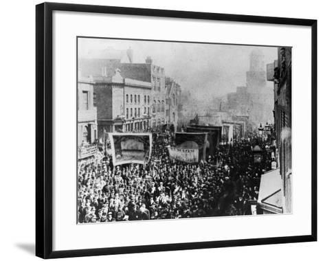 London Dock Strike, 1889--Framed Art Print