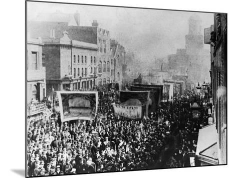 London Dock Strike, 1889--Mounted Giclee Print