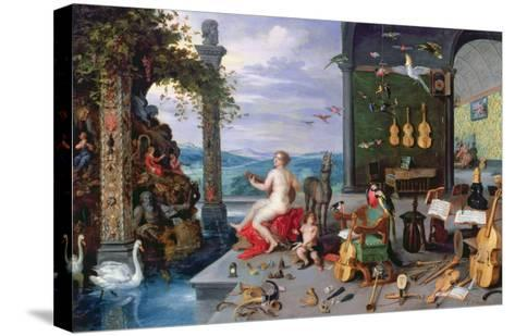Allegory of Music-Jan Brueghel the Elder-Stretched Canvas Print