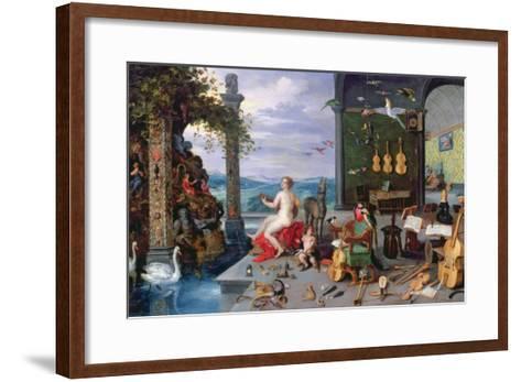 Allegory of Music-Jan Brueghel the Elder-Framed Art Print