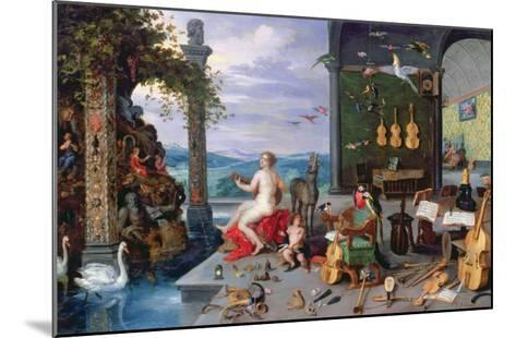 Allegory of Music-Jan Brueghel the Elder-Mounted Giclee Print