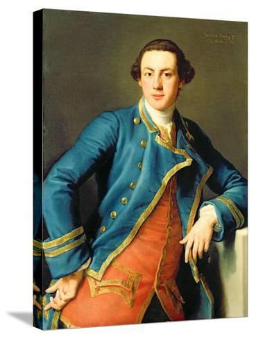Portrait of Sir John Armytage-Pompeo Batoni-Stretched Canvas Print
