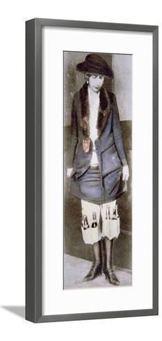 Woman Hiding Illegal Bottles of Beer under Skirt in Special Underwear Pockets, American Prohibition--Framed Art Print