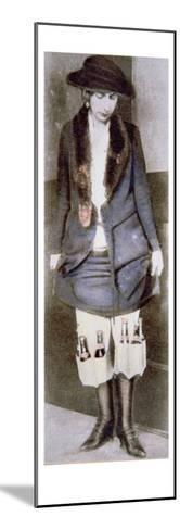 Woman Hiding Illegal Bottles of Beer under Skirt in Special Underwear Pockets, American Prohibition--Mounted Giclee Print