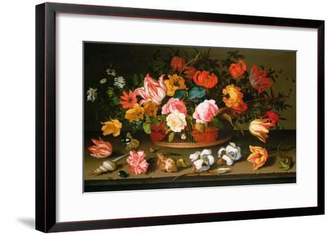 Basket of Flowers, 1625-Balthasar van der Ast-Framed Art Print