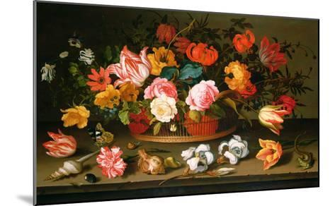 Basket of Flowers, 1625-Balthasar van der Ast-Mounted Giclee Print