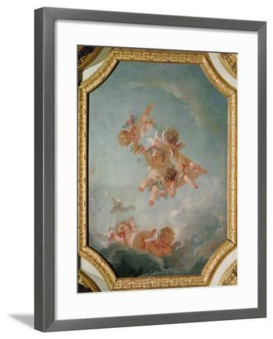 Spring, from a Series of the Four Seasons in the Salle du Conseil-Francois Boucher-Framed Art Print